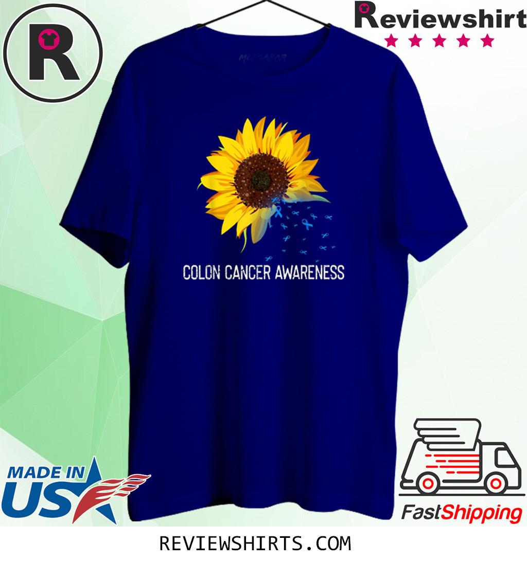 Sunflower Colon Cancer Awareness Costume Ribbon T-Shirt