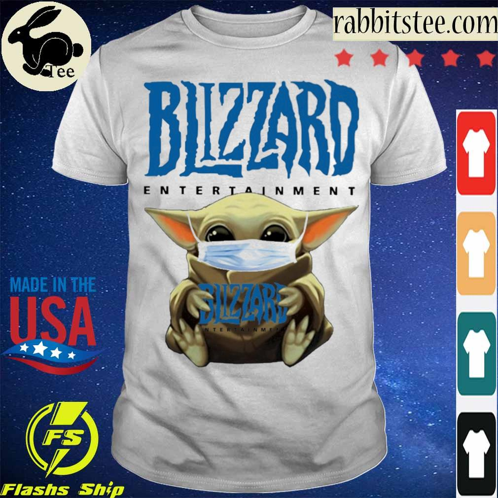 Baby Yoda hug Blizzard Entertainment shirt