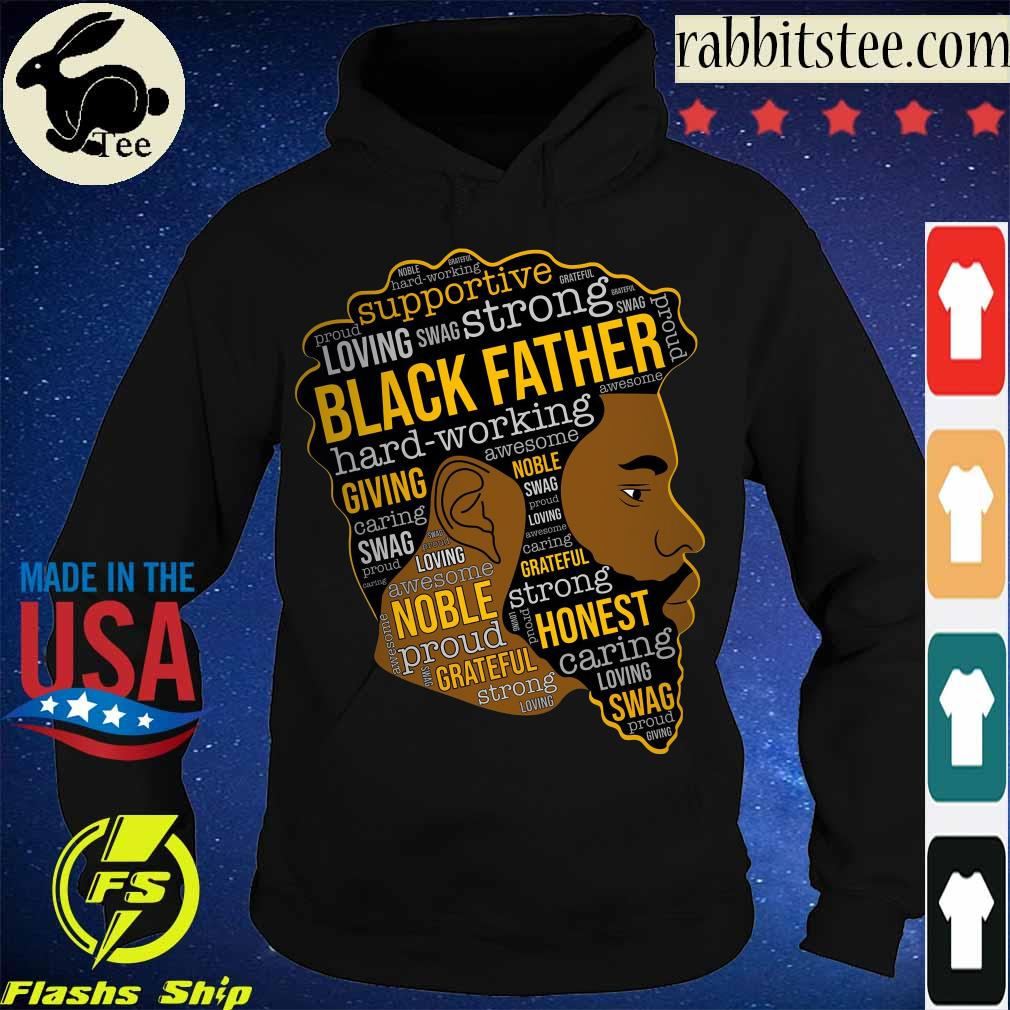 Supportive loving swag strong Black Father s Hoodie