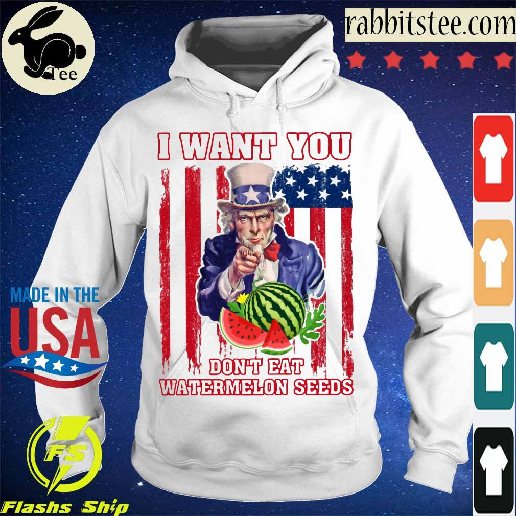 Tio Sam I want you don_t eat watermelon seeds america flag s Hoodie