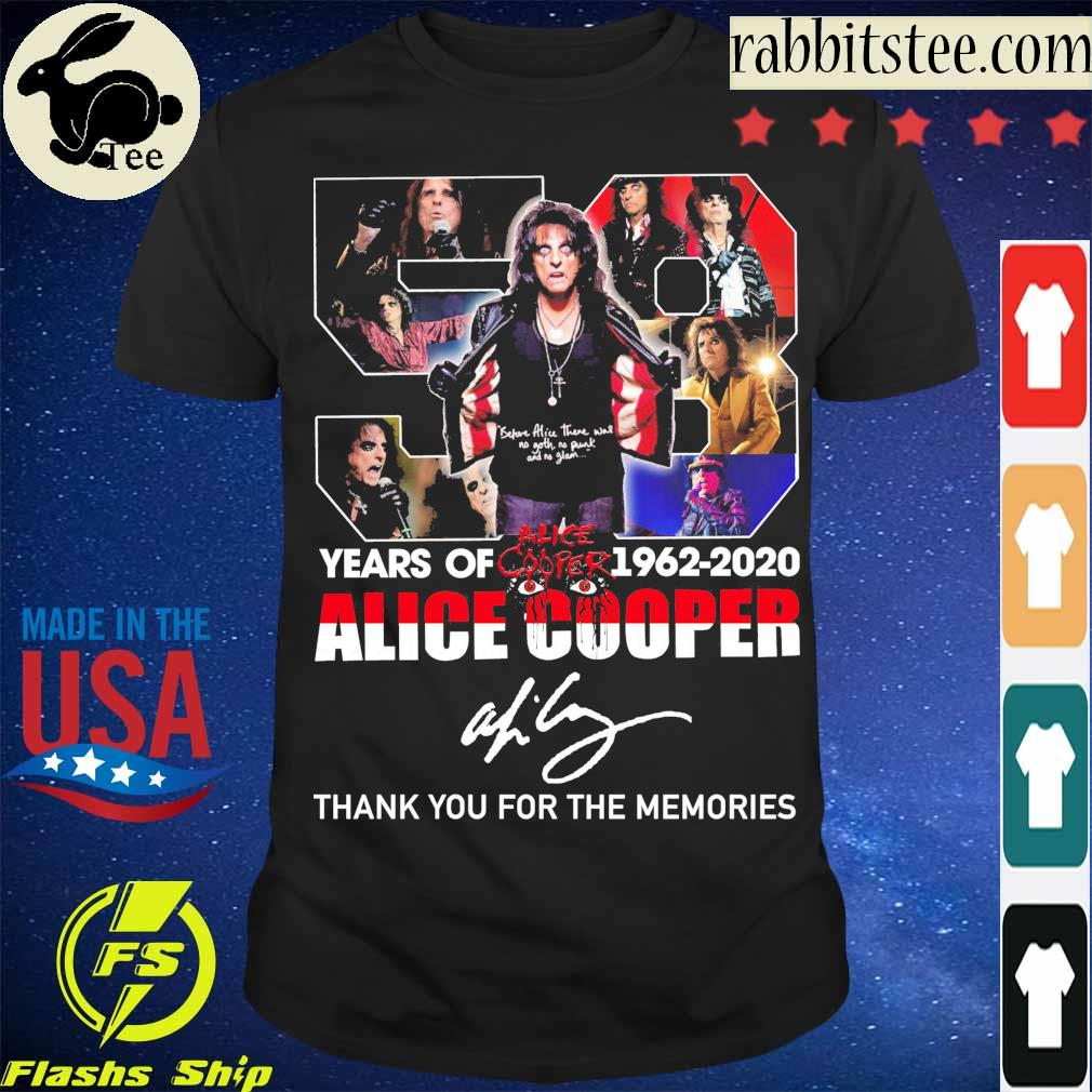 58 Year of 1962 2020 Alice Cooper signature shirt