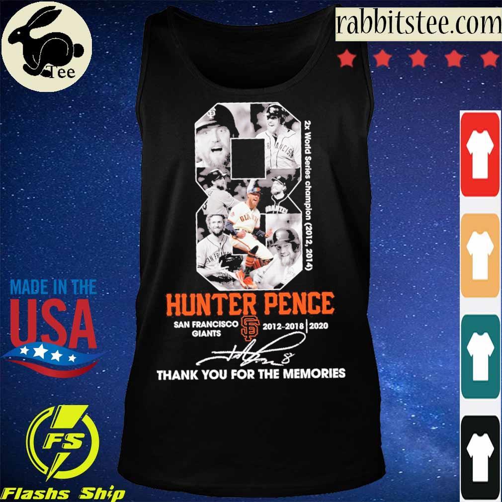 8 Hunter Pence San Francisco Giants 2012 2018 2020 signature s Tanktop