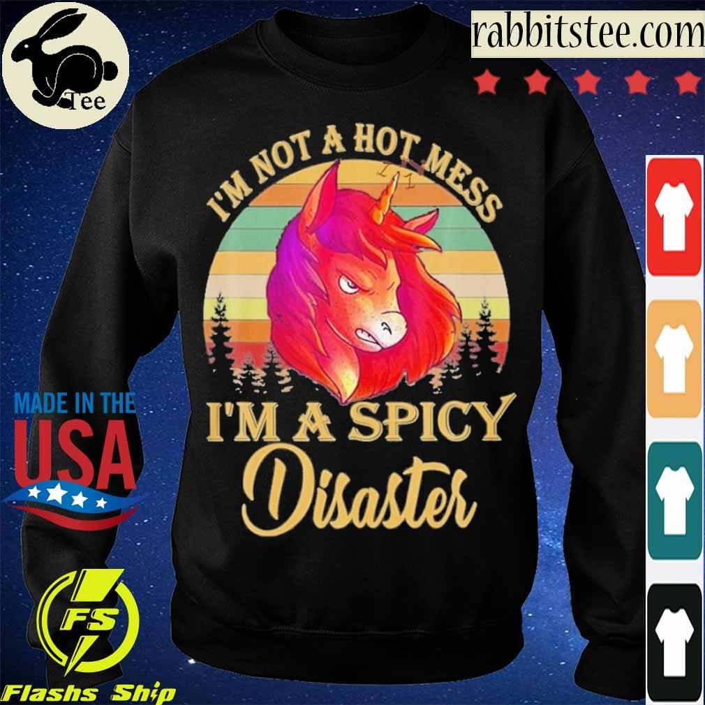 Horse I'm not a hot mess I'm a spicy Disaster vintage s Sweatshirt