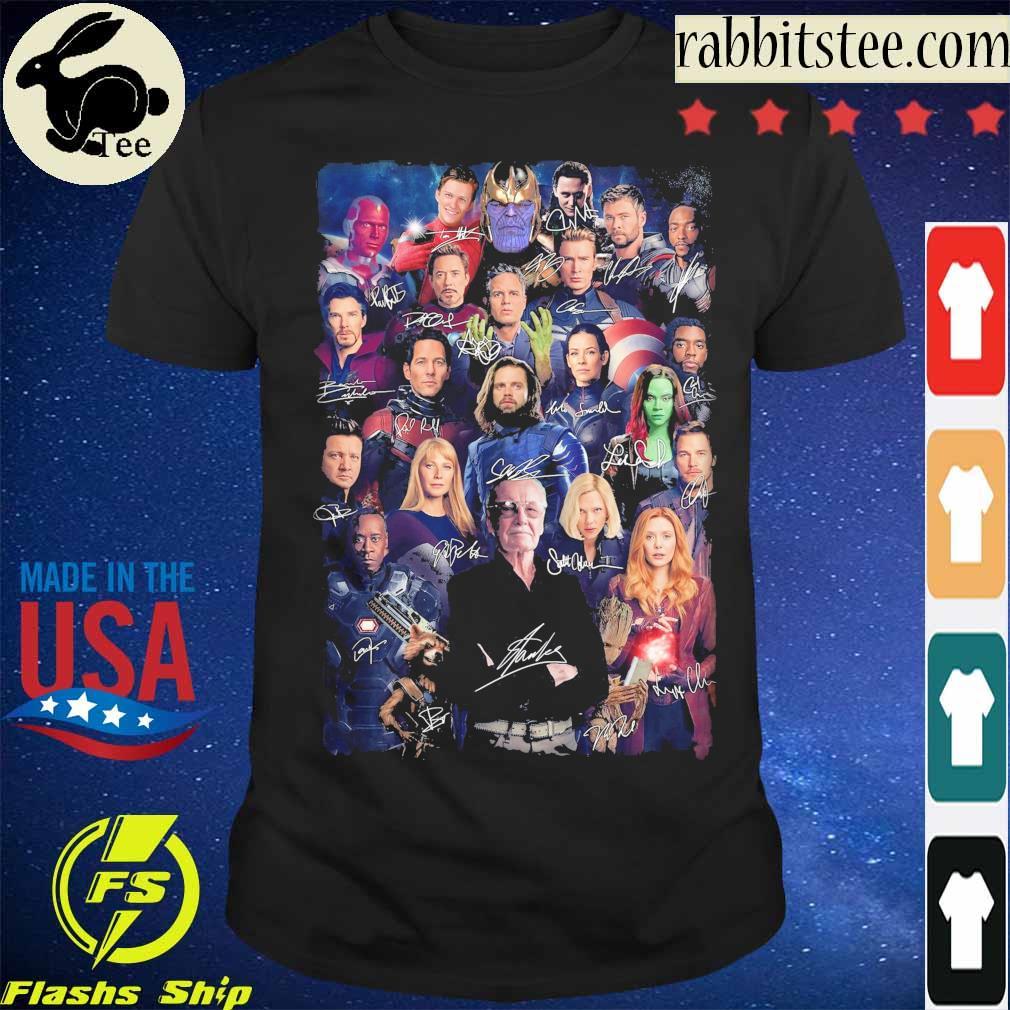 Marvel Avengers Endgame signatures shirt
