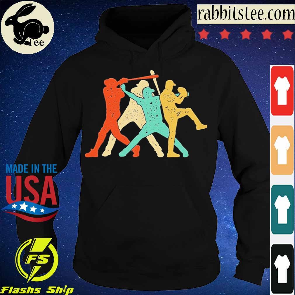Official Baseball Roles Retro Silhouette Shirt Hoodie