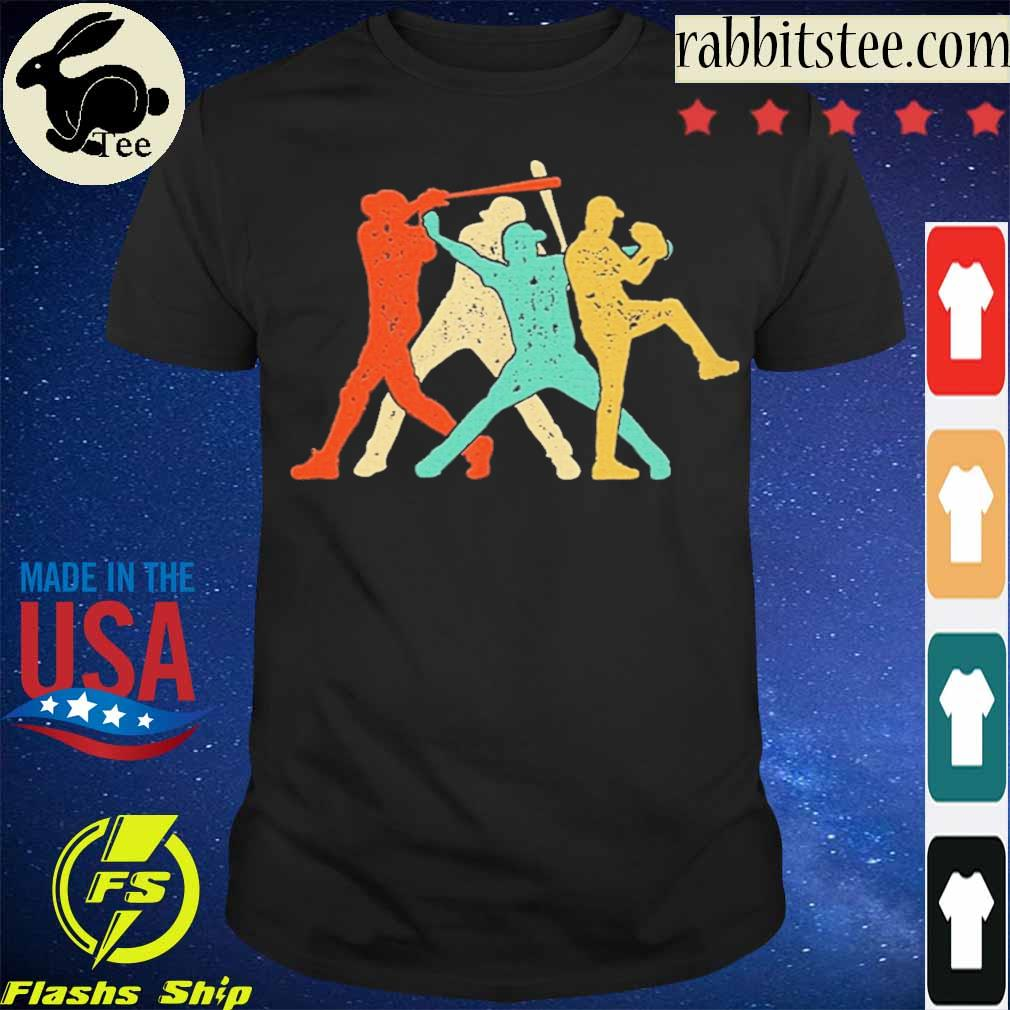 Official Baseball Roles Retro Silhouette Shirt