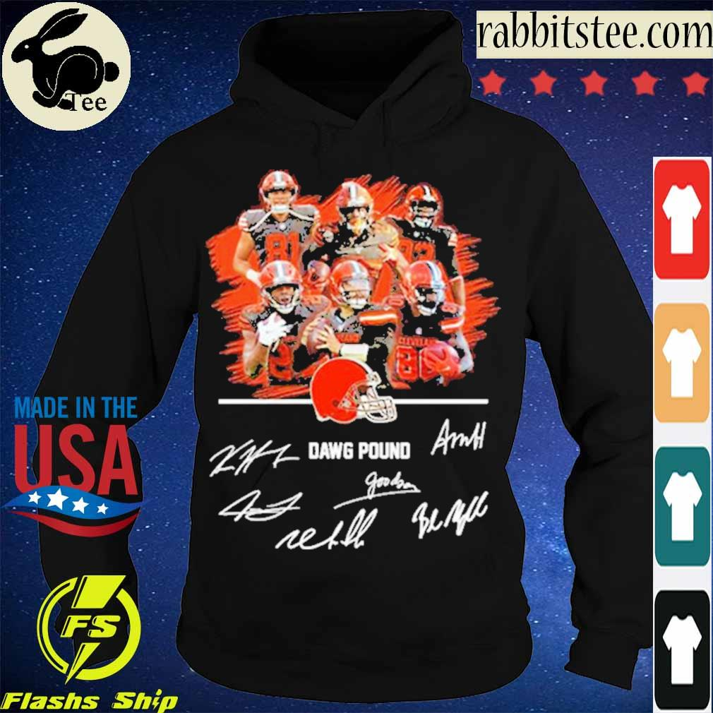 Official Cleveland Browns Dawg Pound Signatures Shirt Hoodie