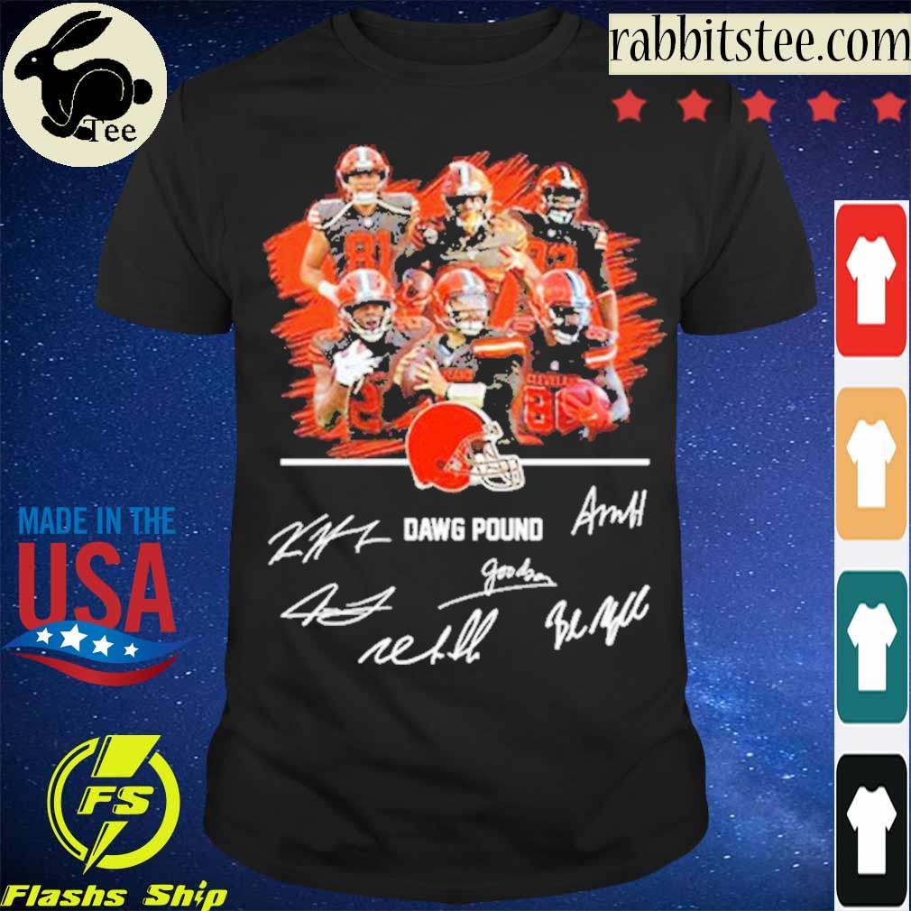 Official Cleveland Browns Dawg Pound Signatures Shirt
